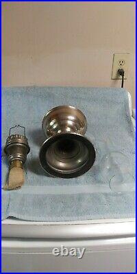 Vtg 1920's ALADDIN Kerosene Oil Table Lamp Model No. 11 Original Base Chimney