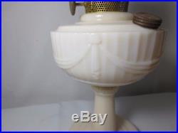 Vtg 40's Alacite Lincoln Drape Aladdin Kerosene Lamp Lock Fitter Chimney Model B