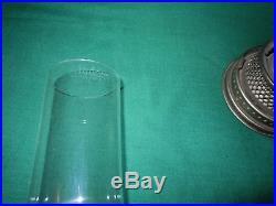 Vtg ALADDIN Oil LAMP Model 12 1928-1935 with Original Milk Shade+NOS Wick & Mantle