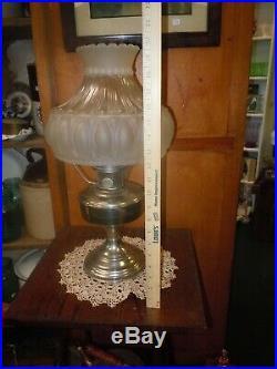 Vtg ALADDIN Oil LAMP Model 12 1928-1935 withOriginal Frosted ShadeNo Chimney
