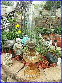 Vtg Aladdin Honey Washington Drape Oil/kerosene Lampnu-type Model B