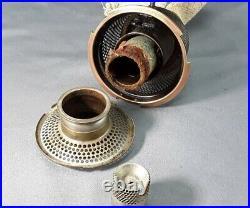 Vtg Aladdin Model 12 Burner Kerosene Table Lamp unusual nickel/bronze finish