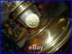 Vtg Aladdin Model 6 Kerosene/Oil Lamp with ORIGINAL SHADE Electrified 1915-1916