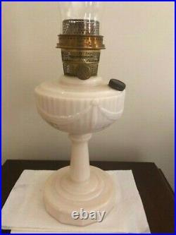 Vtg Aladdin Model B-75 Tall Lincoln Drape Kerosene Oil Lamp Pre War 1940's