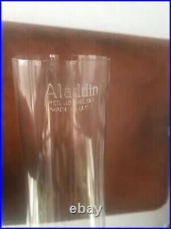 Vtg Aladdin Nu Type Model B Washington Drape Clear Glass Base Kerosene Oil Lamp