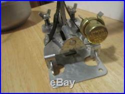 Vtg Aladdin Railroad Caboose Wall Bracket Kerosene Lamp Model C Burner Lantern