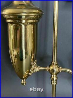 Vtg Aladdin Student Lamp Kerosene Oil With Optional Electric Kit Glass Shade 32