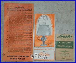 Vtg Aluminum Aladdin Model C Kerosene Caboose Mantle Lamp Wall Bracket & Chimney