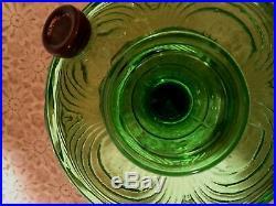 Vtg Green Aladdin Kerosene Lamp Base