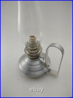 Vtg Nos Aladdin Oil Lamp Aluminum Super Brite Wick Table Or Lg Handle Wall Mount