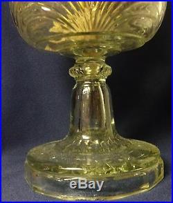 Washington Drape Bell Stem Crystal Kerosene Lamp Aladdin Mantle Lamp Company