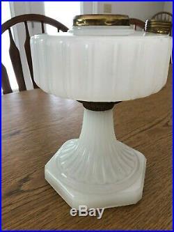 White Corinthian aladdin lamp